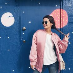 12 Second-Day Hairstyles You Can Wear to Work via Brit + Co Casual Outfits, Girl Outfits, Cute Outfits, Boho Fashion, Girl Fashion, Fashion Trends, Trending Fashion, Pink Bomber, Second Day Hairstyles