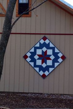 BARN QUILT BEAUTY - When we first contemplating building another barn at Hawk's Creek, I knew I wanted to have a barn quilt on the entry wall. These quilts are. Barn Quilt Designs, Barn Quilt Patterns, Quilting Designs, Block Patterns, Craft Patterns, Quilting Ideas, Barn Quilts For Sale, Amish Barns, Country Barns