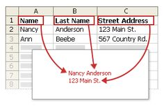 Good to know... how to create address labels in excel (for wedding invitations, save the dates, and thank yous).