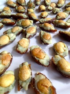 From Sidecar Global Catering in Columbus, Ohio - Blue Cheese stuffed Dates with Marcona Almonds. It's impossible to eat just one!