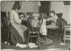 Shelling Nuts at Home, New York City, c.1909, photo by Lewis Wickes Hine