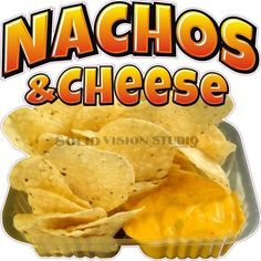 """24"""" Nachos & Cheese Concession Trailer Mexican Food Truck Restaurant Sign Decal #SolidVisionStudio"""