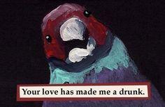 Drunk bird MAGNET by MincingMockingbird on Etsy, $4.50   HMMMM …..