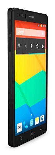"""BQ Aquaris E6 - Smartphone libre Android (pantalla 6"""", cámara 13 Mp, 16 GB, Octa-Core 2 GHz, 2 GB RAM, Android 4.4 KitKat), negro"""