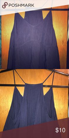 Old Navy Navy Racerback Tank Worn gently maybe once or twice. Tops Tank Tops