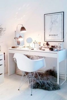 21 Makeup Vanity Table Designs See makeup vanity table designs that are super elegant and very beautiful, too. Every lady needs a corner in her home where she can beautify and relax at the same time. Turn your morning routine into precious moments! http://glaminati.com/makeup-vanity-table-designs/