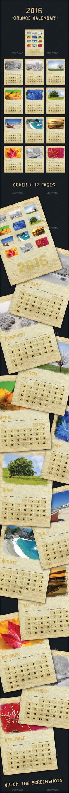 free 2016 calendar template with photo frame psd happy new year