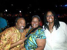 Ty, Tina, Bridgette @ India's concert.