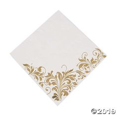 Luxury Shimmering Wedding Day CREAM-GOLD Napkins 33cm x 33cm Celebration Quality Party Tableware Decoration Serviettes Foil Embossed Dinner Bride Groom Couple