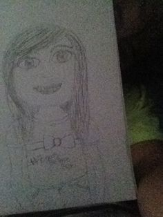 u guys like my drawing? my proof of me drawing it is me sorta hiding behind it(plz don't repin without asking me first)