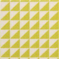 monaluna organic fabric with green triangles USA