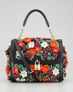 Miss Dolce Raffia Flower Padlock Flap Bag by Dolce & Gabbana   This purse makes me smile with it's vibrancy!