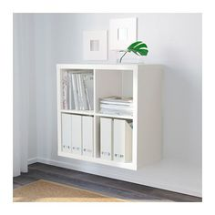 Interesting idea to attach it to the wall-- still allows for storage of other toys underneath?  KALLAX Shelf unit - white - IKEA