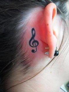 31 Best Treble Clef Tattoo Behind Ear Images Treble Clef Tattoo