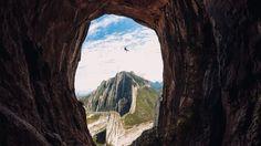 Haciendo Rapel en la cueva de la virgen, en el parque ecológico La Huasteca en Santa Catarina Nuevo León Mexico!