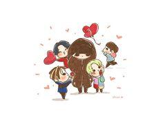 ░ 2PIIM ░▓ @2PIIM   [fanart] #BIGBANG Happy Valentine's Day ♥️