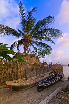 Kuna Indian village on Corbisky Island, Panama