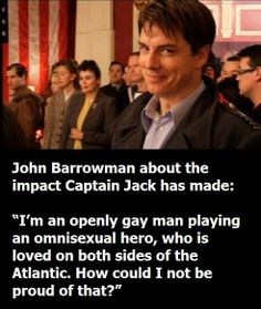 John Barrowman on Captain Jack
