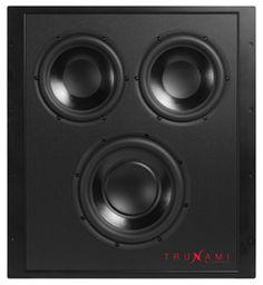 TruAudio In-wall passive subwoofer with enclosure Trunami-sub NEW IN BOX Passive Subwoofer, In Wall Speakers, Video Home, Digital Signage, Tv Videos, Audio, Electronics, Box, Digital Signature
