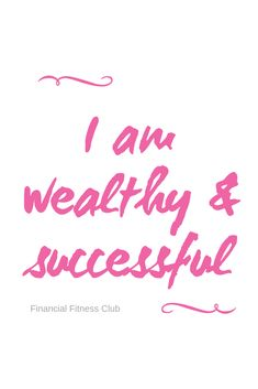 """Wealth affirmation """"I am wealthy & successful"""" Use daily to help improve your money mindset. Printed onto a book in Pink, Lilac or Purple. Ships from the UK to international is wealth Wealth Affirmations, Law Of Attraction Affirmations, Positive Affirmations, Good Health Quotes, Health Is Wealth Quotes, Positive Vibes, Positive Quotes, Manifesting Money, Affirmation Quotes"""