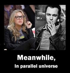 Penny and Sheldon in a parallel universe.