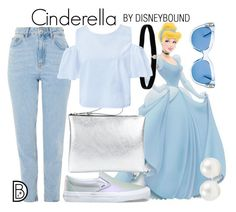 Cinderella by leslieakay on Polyvore featuring Sans Souci, Topshop, Vans, Gum, Amanda Rose Collection, Kenneth Jay Lane, Kate Spade, disney, disneybound and disneycharacter