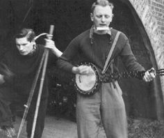 Karl Dallas playing his banjo in the 1950s: Bradford singer-songwriter Karl Dallas is taking music fans down memory lane with a skiffle session at the Castle pub in Grattan Road, Bradford