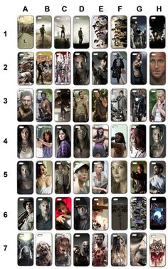 The Walking Dead cell phone case for Iphone 4, 4s, 5, 5s, galaxy sg3, sg4 zombies walkers, rick grimes, carl, daryl dixon, lori, governor on Etsy, $19.99