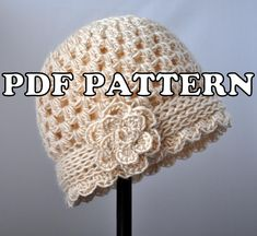 Looking for your next project? You're going to love Classy Crochet Vintage Flowered Cloche by designer jenkeng. - via @Craftsy