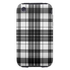 Capas de iphone pretas da xadrez capas fortes de iPhone 3