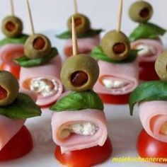 Ice Pop Recipes, Ham Recipes, Appetizer Recipes, Appetizers, Cooking Recipes, Party Food Platters, Party Dishes, Canned Ham, Salad Dishes