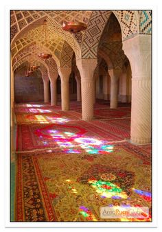 Rugs+Stained Glass+Stone Columns= Perfection