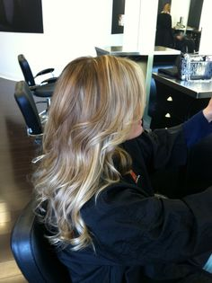 Ombré highlights (Aveda color) and cut by Nikki Lowery at Modern Salon and Spa in Charlotte, NC