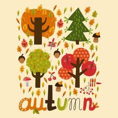 Autumn Art Print. So cute.