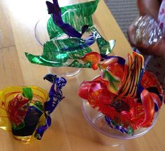 STEM to STEAM: Shrink Art Sculpture, Dale Chihuly Style - oh the possibilities!!!