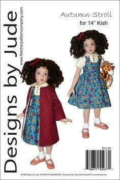 "Jacket Hat 14/"" Kish Chrysalis Pattern for Ruffled Dress"
