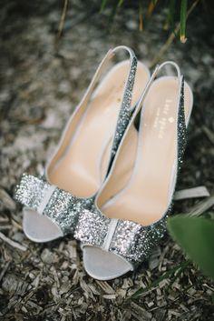 #silver #glitter #bow heels // photo by Delbarr Moradi