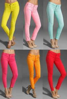 colored denim.. Love these!