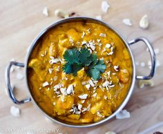 "- ""I've tried many different recipes–all of which weren't quite right–and have 34 versions saved in my bookmarks… in a folder titled ""I will Conquer Korma."" - Let's (Mild Vegan Curry) Vegan Vegetarian, Vegetarian Recipes, Cooking Recipes, Vegan Pie, Vegan Curry, Comida India, Indian Dishes, Garam Masala, Vegetarian"
