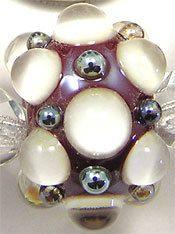 EDJ - RED, WHITE & AURAE BERRIES Glass Lampwork Beads by USA Artist Eric Larson | eBay