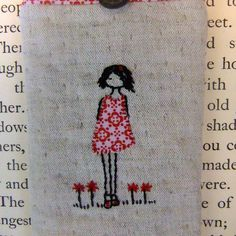 applique and embroidery. Embroidery Sampler, Embroidery Applique, Cross Stitch Embroidery, Embroidery Patterns, Mosaic Portrait, Couture, Glasses Case, Needle And Thread, Needlepoint