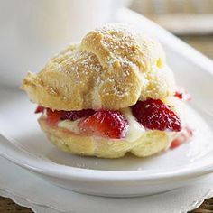 Mound juicy, ripe, red strawberries on top of tender shortcake biscuits for this incredible dessert.