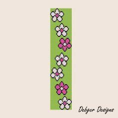 Flower Way Loom Bracelet Cuff