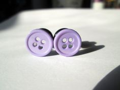 Plugs - Gauges - Pale Purple Button Plugs - Available in and Fake Piercing, Piercing Tattoo, Ear Piercings, Rook Piercing, Piercing Ideas, Peircings, Plugs Earrings, Gauges Plugs, Pearl Earrings