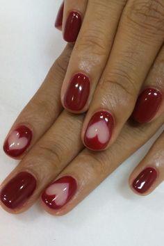 """Uñas de Corazones para el Día de San Valentin """"Natural love heart nails"""""""
