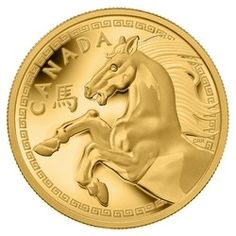 Royal Canadian Mint $2500 2014 Pure Gold Coin - Year of the Horse $69,000.00