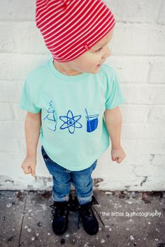 Science - Instruments of Science Unique Kids TShirt - Boys Clothes - Girls Clothes - Baby and Toddler - Hipster Kids Shirt - Experiment on Etsy, $16.00