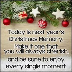 More Than Sayings: next year's Christmas memory