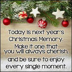 More Than Sayings: next year's Christmas memory