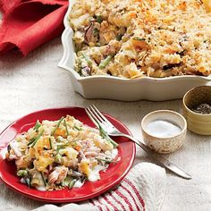 Our take on the classic hits the high notes: creamy, cheesy, fresh, and crunchy. Resist digging into the casserole right out of the oven....